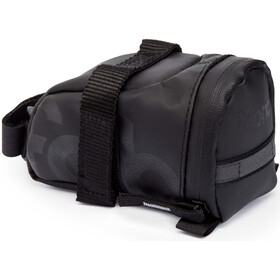 Fabric Contain Saddle Bag S black